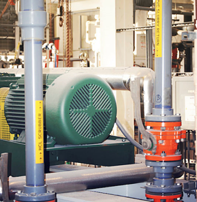 industrial piping system pump