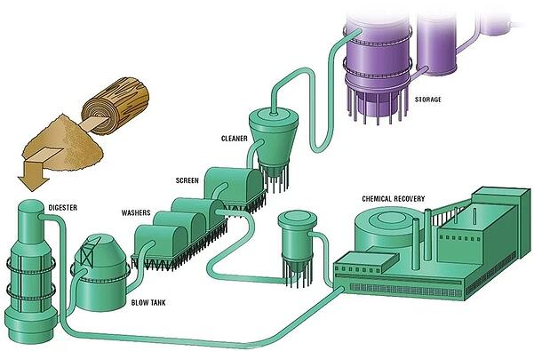 pulp and paper mill pulp chemical recovery process