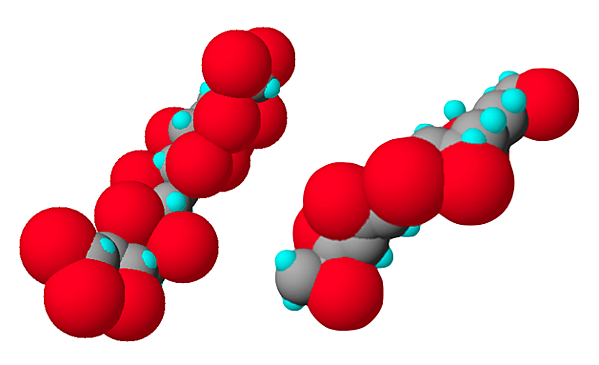 CPVC and PVC molecule with carbon backbone