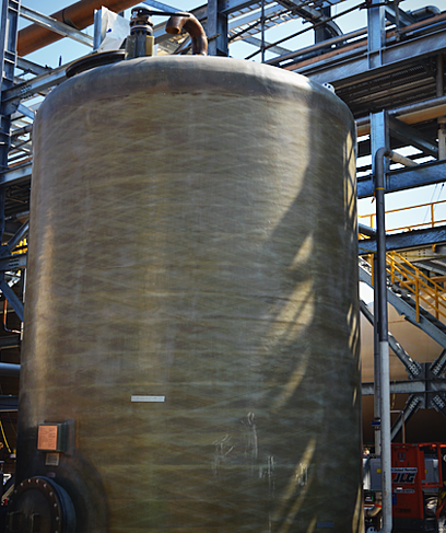 Corzan CPVC lined storage tank