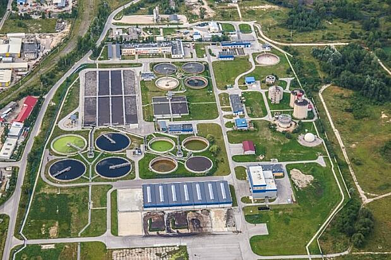 wastewater industrial plant