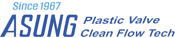 ASUNG plastic valve clean flow tech logo