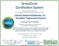 Vantage Vinyl GreenCircle Certified-1-1