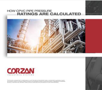 Como as classificações de pressão dos tubos de CPVC são calculadas?