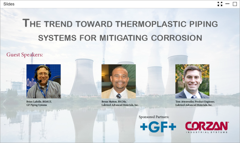 THERMOPLASTIC PIPING SYSTEMS AND MITIGATING CORROSION
