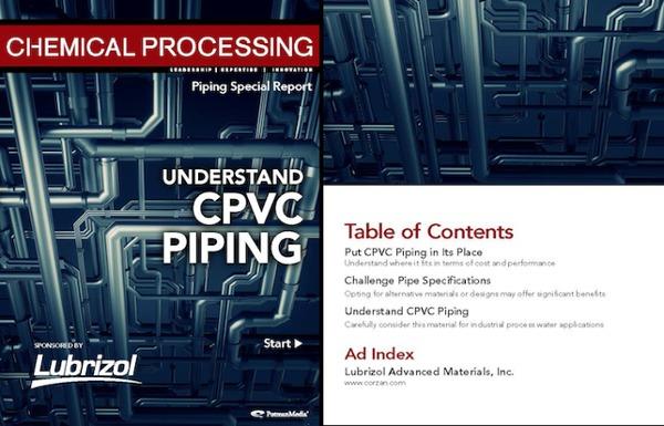 Relatório especial das tubulações na revista de processamento químico